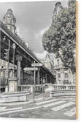 Pont De Bir-hakeim, Paris, France Wood Print