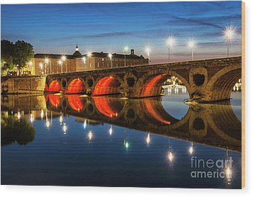 Wood Print featuring the photograph Pont Neuf In Toulouse by Elena Elisseeva