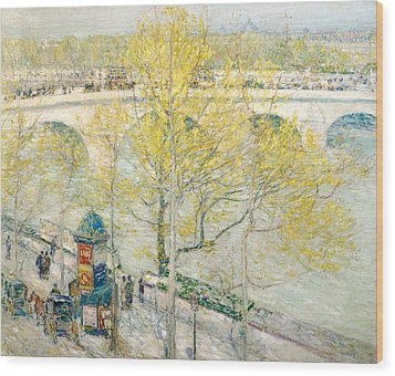 Pont Royal Paris Wood Print by Childe Hassam