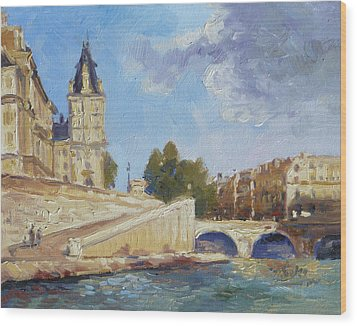 Pont Saint Michel, Paris Wood Print