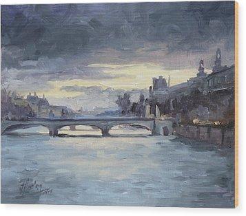 Pont Du Carrousel, Paris Wood Print