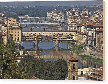 Ponte Vecchio - Florence Wood Print by Joana Kruse