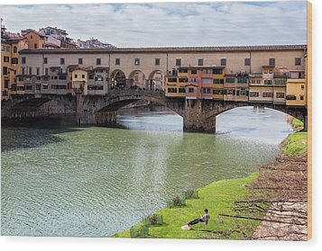 Wood Print featuring the photograph Ponte Vecchio Florence Italy II by Joan Carroll
