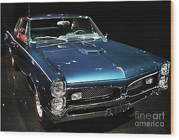 Pontiac Gto 2 Wood Print by Wingsdomain Art and Photography