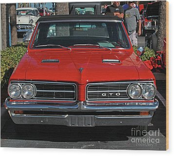Wood Print featuring the photograph Pontiac Gto by Dodie Ulery