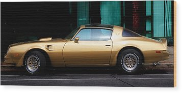 Pontiac Trans Am Wood Print by Andrew Fare
