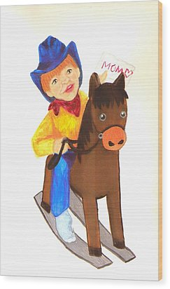 Pony Express Wood Print by Jeanette Lindblad
