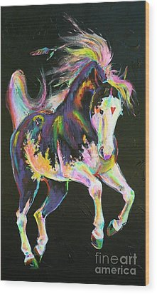 Pony Power I Wood Print by Louise Green