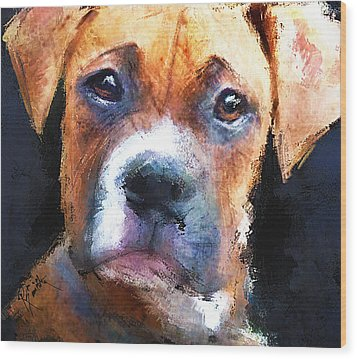 Pooch Wood Print by Robert Smith