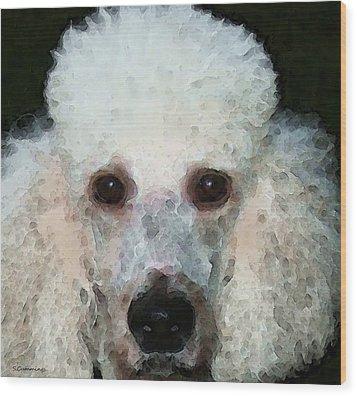 Poodle Art - Noodles Wood Print by Sharon Cummings