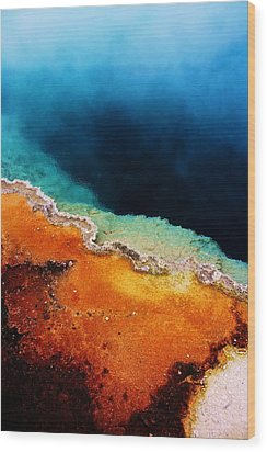 Pool Of Many Colors Wood Print by Russell  Barton