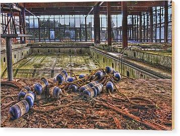 Pool Of Sorrow Wood Print by Evelina Kremsdorf