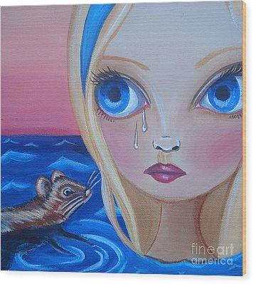 Pool Of Tears Wood Print by Jaz Higgins