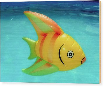 Pool Toy Wood Print by Tony Grider