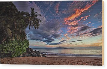 Poolenalena Sunset Wood Print by James Roemmling