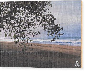 Pools Beach Wood Print by Sarah Lynch