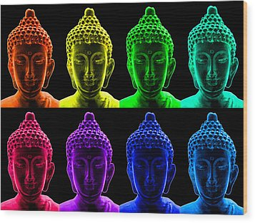 Pop Art Buddha  Wood Print by Fabrizio Troiani