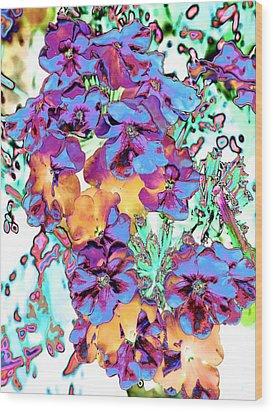 Pop Art Pansies Wood Print by Marianne Dow