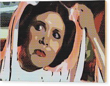 Pop Art Princess Leia Organa Wood Print