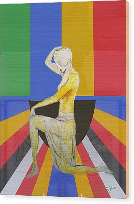 Popart Showgirl 2 Wood Print by Tom Conway