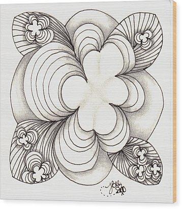Popcloud Blossom Wood Print by Jan Steinle