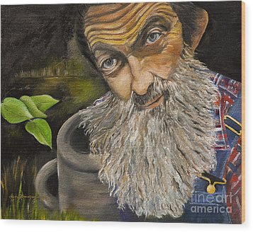 Wood Print featuring the painting Popcorn Shines - Last Run - Moonshiner by Jan Dappen