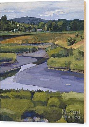 Pope John II Park On Neponset River Wood Print by Deb Putnam