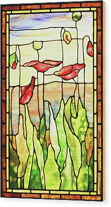 Wood Print featuring the photograph Poppies 1 by Kristin Elmquist
