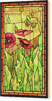 Wood Print featuring the photograph Poppies 2 by Kristin Elmquist