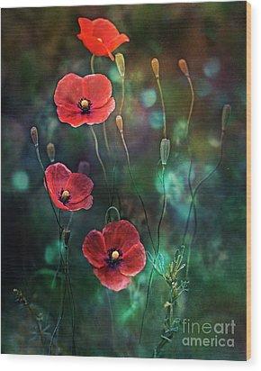 Poppies Fairytale Wood Print