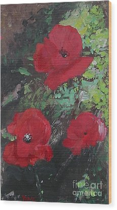 Poppies  Wood Print by Lizzy Forrester