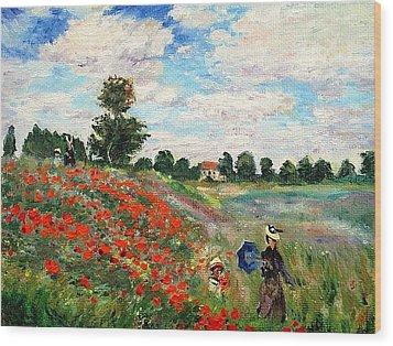 Poppies Near Argenteuil Wood Print by Peter Kupcik