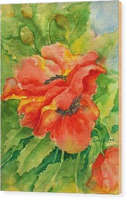 Poppiesii Wood Print