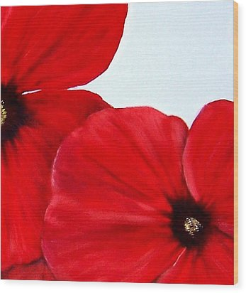 Poppy 2 Wood Print by Penny Everhart