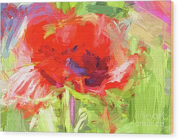 Wood Print featuring the photograph Poppy Abstract Photo Art by Sharon Talson