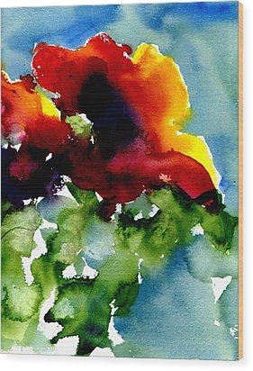 Poppy Wood Print by Anne Duke