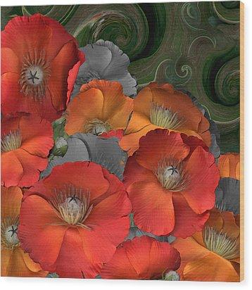 Poppy Wood Print by Stan Bowman