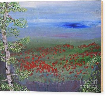 Poppy Valley Wood Print by Jamie Hartley