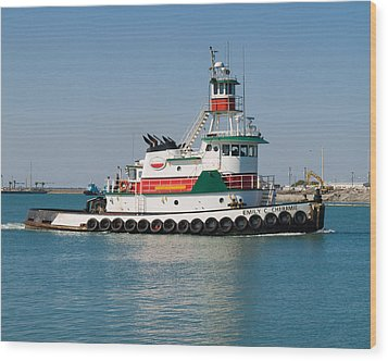 Popular Sight At Port Canaveral On Florida Wood Print by Allan  Hughes