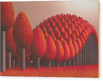 Populus Flucta Wood Print by Patricia Van Lubeck