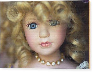 Porcelain Doll Wood Print by Joseph Skompski