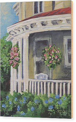 Porch Wood Print by Torrie Smiley
