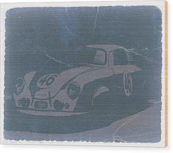 Porsche 356 Coupe Front Wood Print by Naxart Studio