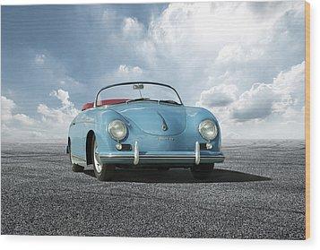 Wood Print featuring the digital art Porsche 356 Speedster by Peter Chilelli