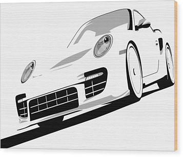Porsche 911 Gt2 White Wood Print by Michael Tompsett