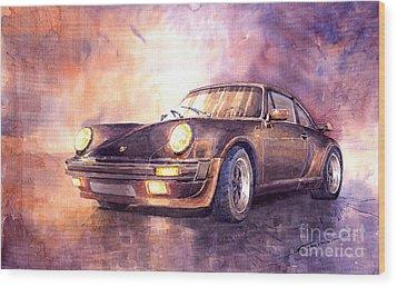 Porsche 911 Turbo 1979 Wood Print by Yuriy  Shevchuk
