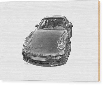 Porsche 911 Turbo Wood Print by Gabor Vida