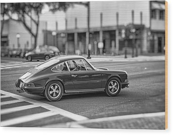 Wood Print featuring the photograph Porsche 911e by Howard Salmon