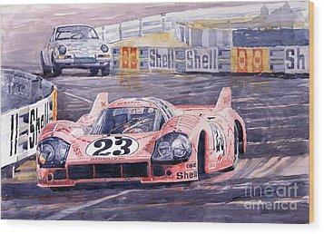 Porsche 917-20 Pink Pig Le Mans 1971 Joest Reinhold Wood Print by Yuriy  Shevchuk