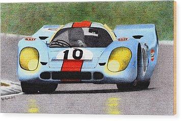 Porsche 917k Pedro Rodriguez 1970 Wood Print by Ugo Capeto